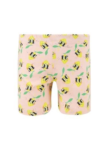 DeFacto Kız Çocuk Limon Baskılı Kısa Kol Pijama Takımı Pembe